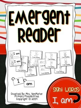 Sight Word Emergent Reader (I, am)