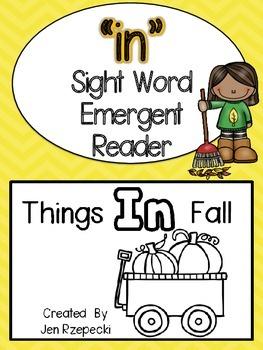 Sight Word Emergent Reader-IN
