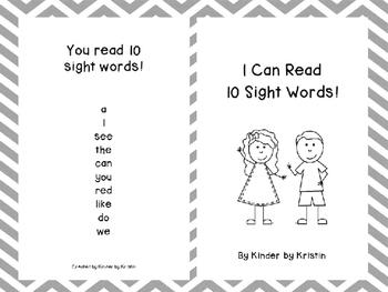 Sight Word Emergent Reader - Kinder by Kristin
