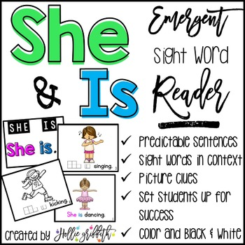 Sight Word Emergent Reader: She, Is