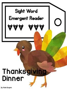 Sight Word Emergent Reader: Thanksgiving