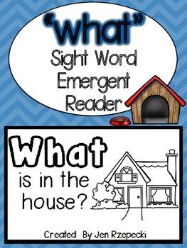 Sight Word Emergent Reader-WHAT