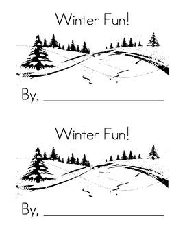 Sight Word Emergent Reader: Winter Fun (at)