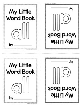 Sight Word Emergent Reader for the Sight Word All