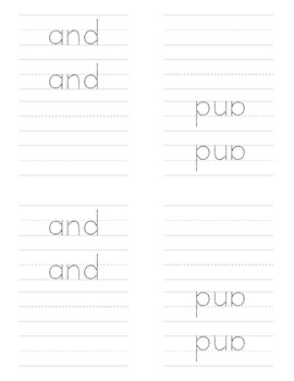 Sight Word Emergent Reader for the Sight Word and