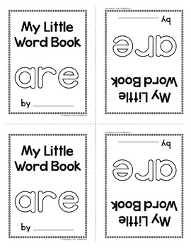 Sight Word Emergent Reader for the Sight Word are