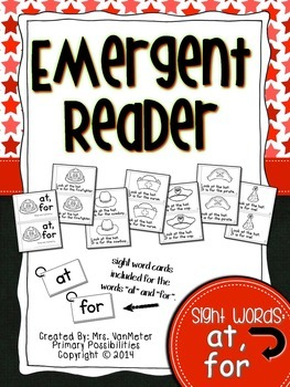 Sight Word Emergent Reader (at, for)