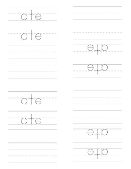 Sight Word Emergent Reader for the Sight Word ate