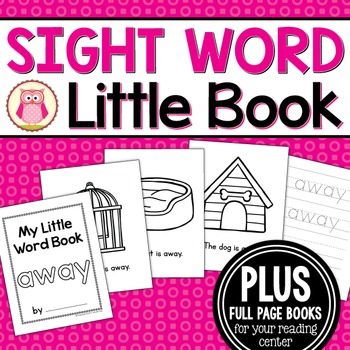 Sight Word Emergent Reader for the Sight Word Away