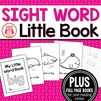 Sight Word Emergent Reader for the Sight Word Big