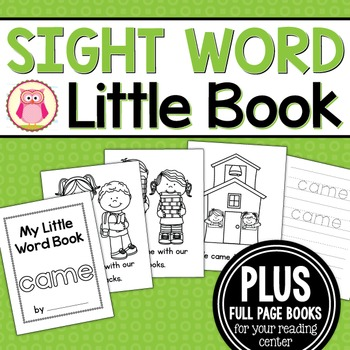 Sight Word Emergent Reader for the SIght Word Came