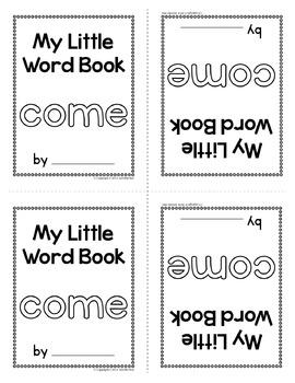 Sight Word Emergent Reader for the Sight Word Come