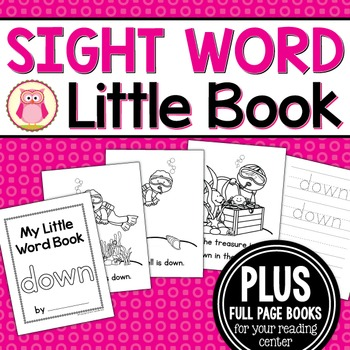 Sight Word Emergent Reader for the Sight Word Down