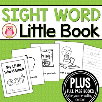 Sight Word Emergent Reader for the Sight Word Eat