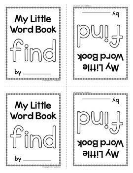 Sight Word Emergent Reader for the Sight Word Find