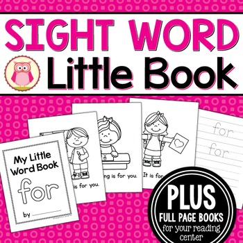 Sight Word Emergent Reader for the Sight Word For
