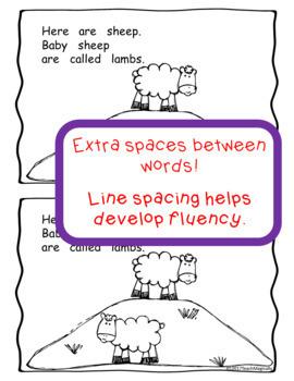 Sight Word Emergent Reader for Kindergarten Farm Animals