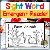 Emergent Reader for Kindergarten Sight Word Book Farm Animals