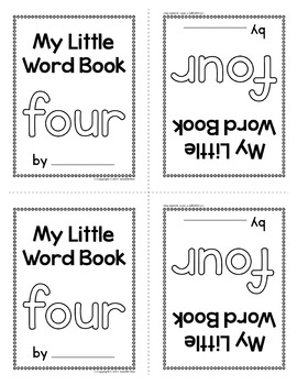 Sight Word Emergent Reader for the SIght Word Four