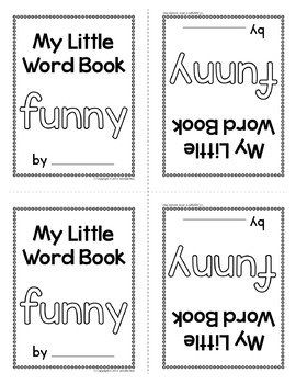 Sight Word Emergent Reader for the Sight Word Funny