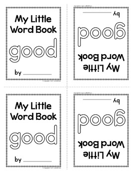 Sight Word Emergent Reader for the Sight Word Good