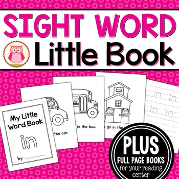 Sight Word Emergent Reader for the Sight Word In
