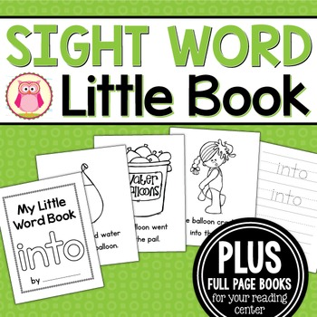 Sight Word Emergent Reader for the Sight Word Into