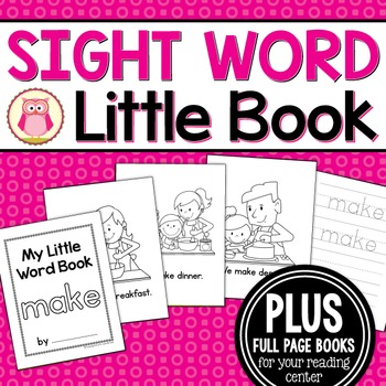 Sight Word Emergent Reader for the Sight Word Make