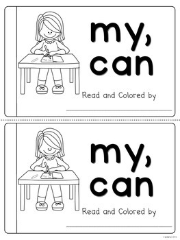 Sight Word Emergent Reader (my, can)