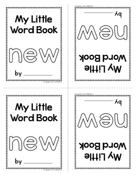 Sight Word Emergent Reader for the Sight Word New