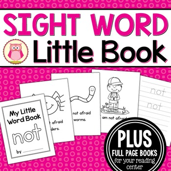 Sight Word Emergent Reader for the Sight Word Not