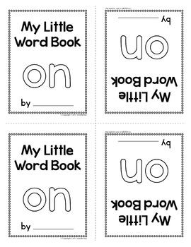 Sight Word Emergent Reader for the Sight Word On