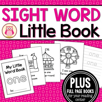 Sight Word Emergent Reader for the Sight Word one