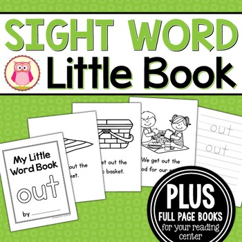 Sight Word Emergent Reader for the SIght Word Out