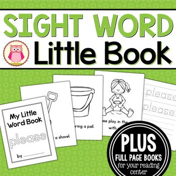 Sight Word Emergent Reader for the Sight Word Please