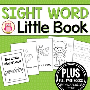 Sight Word Emergent Reader for the Sight Word Pretty