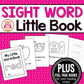 Sight Word Emergent Reader for the SIght Word Red