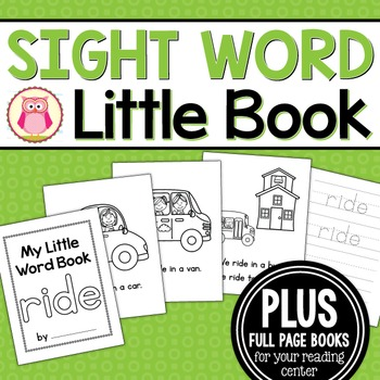 Sight Word Emergent Reader for the Sight Word Ride