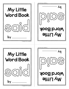 Sight Word Emergent Reader for the sight word said