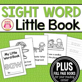 Sight Word Emergent Reader for the Sight Word Saw