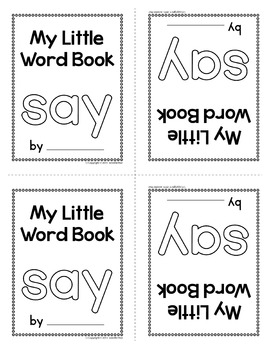 Sight Word Emergent Reader for the Sight Word Say