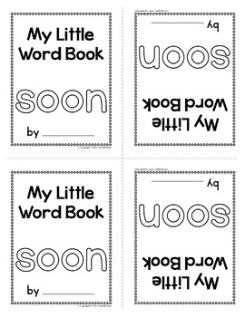 Sight Word Emergent Reader for the Sight Word Soon