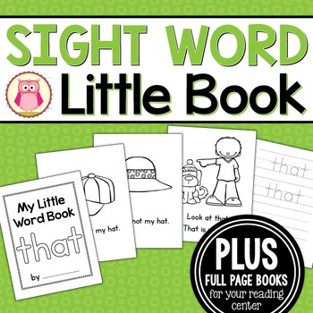Sight Word Emergent Reader for the Sight Word That