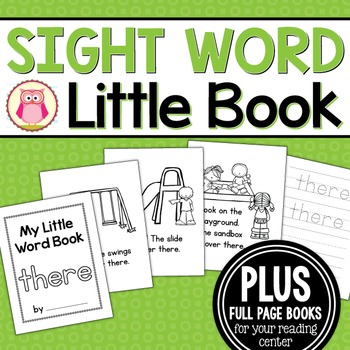 Sight Word Emergent Reader for the Sight Word There