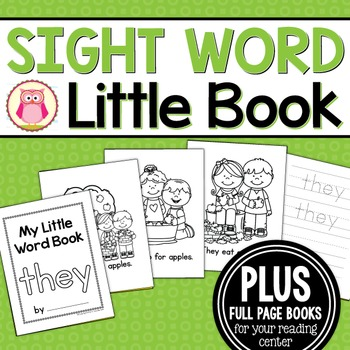 Sight Word Emergent Reader for the Sight Word They