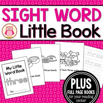 Sight Word Emergent Reader for the Sight Word Three