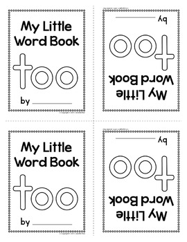 Sight Word Emergent Reader for the Sight Word Too