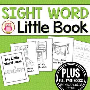 Sight Word Emergent Reader for the Sight Word Under