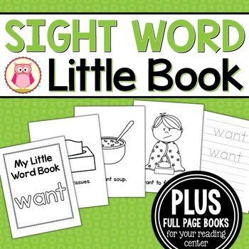 Sight Word Emergent Reader for the Sight Word Want