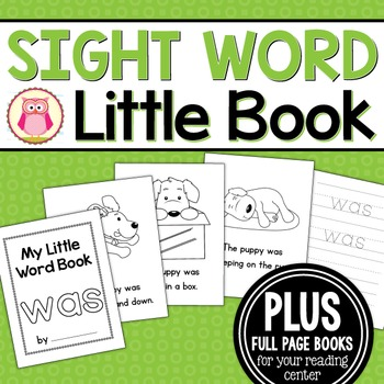 Sight Word Emergent Reader for the Sight Word Was
